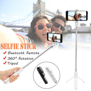 Extendable Selfie Stick Tripod bluetooth Wireless Remote Shutter For iOS Android