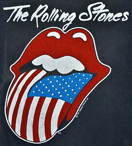 Vintage 80s 1981 THE ROLLING STONES North American Tour Rock Concert T SHIRT S