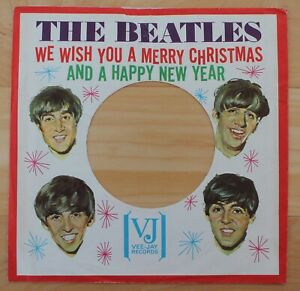 THE BEATLES We Wish You A Merry Christmas Picture Sleeve - RARE - CLEAN - VG+