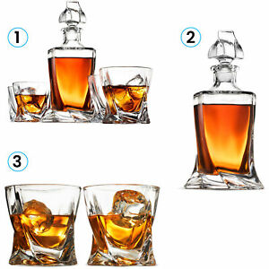 Modern European Style Decanter And Whiskey Glass Set - With Magnetic Gift Box