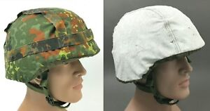 2in1 COVER CEVLAR HELMET1 M WOODLAND CAMOUFLAGE + WINTER WHITE GERMAN ARMY PASGT