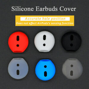 1 Pair Shockproof Soft Silicone Earbuds Cover Case For Apple AirPods Earphone