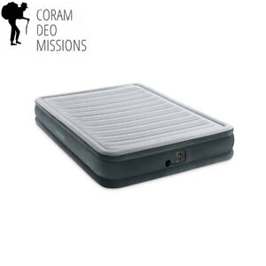 Intex Comfort Plush Mid Rise Dura-Beam Airbed with Internal Electric Pump,...