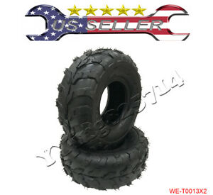 2 pieces 145 70 6 Front Rear Tubeless Tires 70 90 110cc Taotao Quad ATV Go Kart $39.99