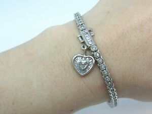 DIAMOND TENNIS BRACELET 14K WHITE GOLD APPRAISAL $3040.00