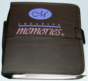 Vtg CREATIVE MEMORIES Binder FULL Loaded SCRAPBOOKING 6570 Stickers BORDERS Lot