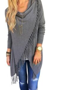 Casual Front Wrap Tunic with Tassels $24.99