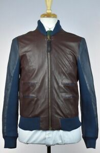 Paul Smith Mens Bomber Leather Jacket Size M New
