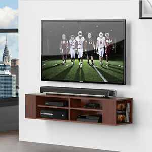 Fitueyes Wall Mount TV Stand Media Console Entertainment Center Floating Shelves