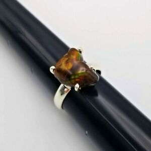 Mexican Fire Agate 925 Sterling Silver Ring Handmade Jewelry s.9 Size 9