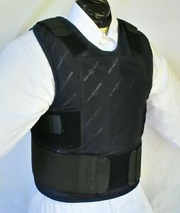XL IIIA Lo Vis  Concealable Body Armor Carrier BulletProof Vest with Inserts