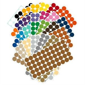 Color Coding Dot Labels 3/4 inch (19mm) Stickers 50 pack Permanent Outdoor Vinyl