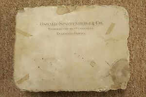 Evansville Ind ANTIQUE LITHO LITHOGRAPHIC PRINT STONE Oswald RARE ADVERTISING