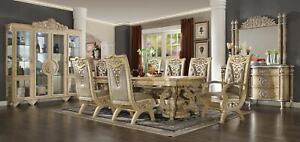 DINING ROOM SET DINING TABLE W6 CHAIRS HOMEY DESIGN HD-8015 EUROPEAN STYLE