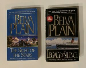 Belva Plain Book Lot Legacy of Silence The Sight of the Stars Novels Fiction