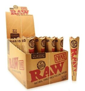RAW Classic Pre-Rolled Cones 1 14 Rolling Papers Cones FAST SHIPPING SAME DAY