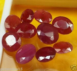 54.20 CT African Ruby 10 Pcs 100% Natural A++ Awesome Wholesale Lot Gems GI223