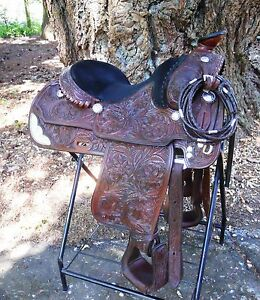 Vintage Victor Leather Goods Show Saddle!!  Two Tone Oil!  EUC!