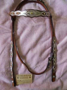 NWT Victor Leather Goods Arab Sterling HeadstallBridle