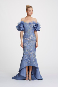 NWT Designer Couture Organza Off Shoulder Gown