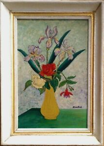 Antique Oil Painting by Elisée MACLET (1881 - 1962) The yellow vase c1925 signed