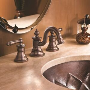 Moen Waterhill TS418ORB Oil Rubbed Bronze Two-Handle Bathroom Faucet BLEMS