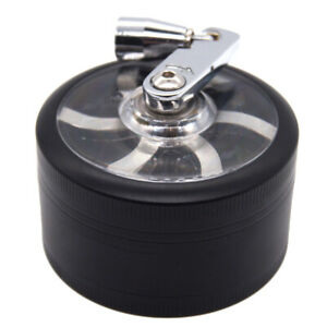 2quot; 3 PC Tobacco Herb Spice Crusher Hand Crank Grinder Black Blue Red Green