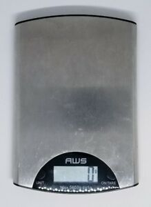 American Weigh Scales AWS ME-5KG Digital Kitchen Scale Silver Food Baking