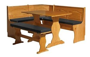 NEW Linon SOLID WOOD Kitchen Nook Corner Dining Breakfast Table