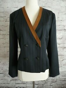 VTG Escada -  CRISCA German Designer SUIT Blazer Jacket  SIZE 34 Small VTG EUC