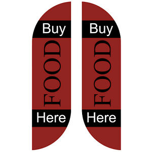 BUY FOOD outdoor business feather flag sign Kit Banner Advertising - NO CHINA