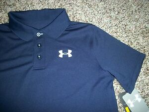 UNDER ARMOUR New NWT Youth Boys Kids Polo Short Sleeve Shirt Loose Fit Heat Gear