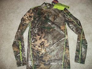 UNDER ARMOUR New NWT Mens Real Tree Compression Cold Gear Camo Camouflage Shirt $39.90