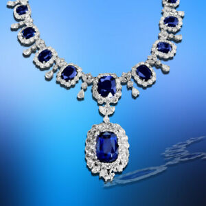 GIA CERTIFIED 14 CUSHION SHAPE 17.48 CT CENTER SAPPHIRE WITH NATURAL DIAMOND