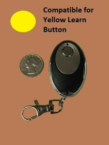 Liftmaster Garage Door Opener Key Chain Remote Transmitter Yellow Learn Button