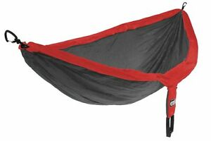 eno double nest red charcoal outdoor hammock  2 persons  285 x 189 cm 180 kg...