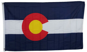 3x5 Colorado State Flag State of Colorado Premium Banner FAST USA SHIPPING