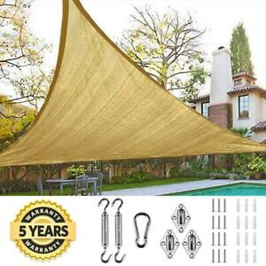 On Sale!!! Quictent 18' Triangle UV Sun Shade Sail Canopy Cover Patio Sand