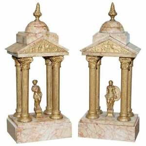 LARGE PAIR OF 1800#x27;S ROMAN ANTIQUE GRAND TOUR MARBLE SCULPTURES STATUES VERY OLD GBP 450.00