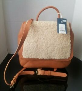Universal Thread Vegan Leather Sherpa Backpack New
