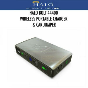 Halo Bolt Portable Wireless Charger 44400 MWh Power Bank Car Jumper Silver