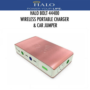 Halo Bolt Portable Wireless Charger 44400 MWh Power Bank Car Jumper Rose Gold