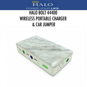 Halo Bolt Portable Wireless Charger 44400 MWh Power Bank Car Jumper White Marble
