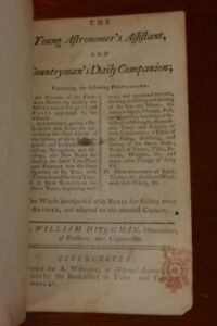 CHARMING LITTLE BOOK BY AMATEUR ASTRONOMER - 1755 CIRENCESTER IMPRINT - WCUTS