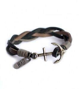FAUX LEATHER ANCHOR BRACELET