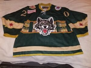 2011 CHICAGO WOLVES ST. PATRICK DAY #20 DARREN HAYDAR GAME USED JERSEY AND SOCKS