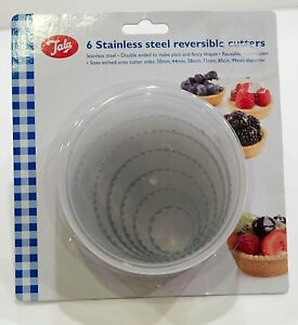 Cookie Pastry Cutters Tala Stainless Steel Reversible Quantity = 6  BRAND NEW