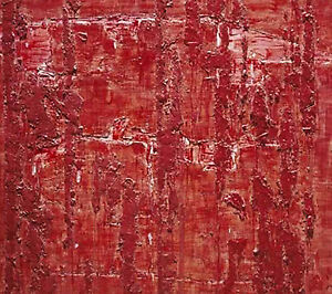 Wlodzimierz Ksiazek Untitled Abstraction in Red 2010