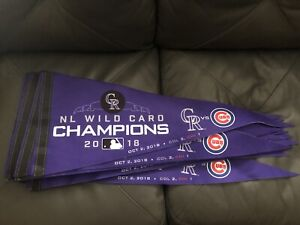 Colorado Rockies SGA Playoff Wild Card Champs Pennant
