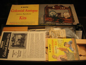 1956 X ACTO quot;COLONIAL ANTIQUE KIT REPRODUCTION 3 DOOR WALL SHELFquot; NO.513 AS NEW $64.56